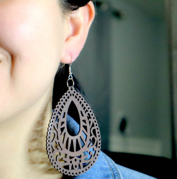 Shop Wyoming Long Wooden Hollow Dangled Earrings – Various colors