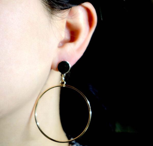Shop Wyoming Golden Circled Simple Dangle Earrings