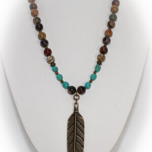 Shop Wyoming Feather Necklace TPN-11A