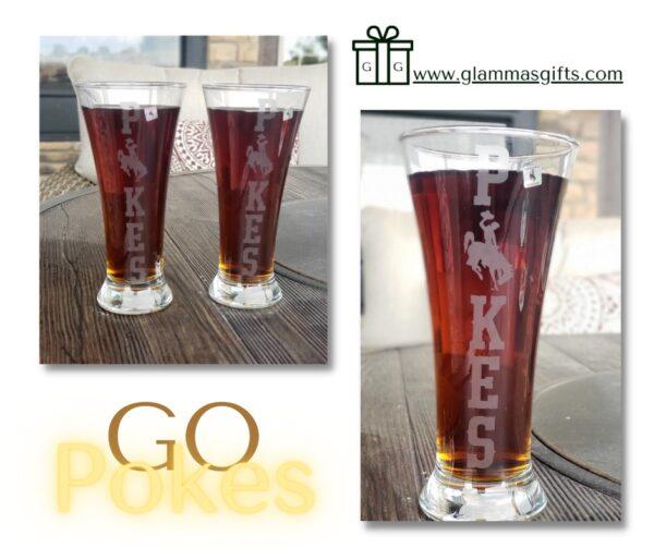 Shop Wyoming Flared Pilsner Wyoming Pokes Glass