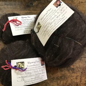 Shop Wyoming Tronstad Ranch Natural Chocolate Brown Roving