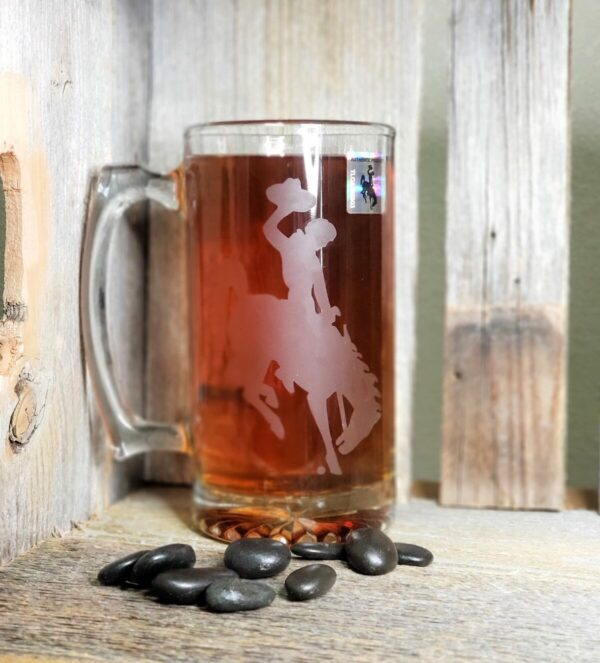 Shop Wyoming Steamboat Etched Beer Mug – 16 oz