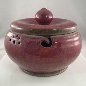 Shop Wyoming Muddy Mountain Pottery Yarn Bowl – Lidded #1