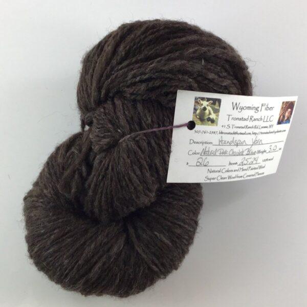 Shop Wyoming Tronstad Ranch Handspun Natural Dark Chocolate Brown 3.0oz