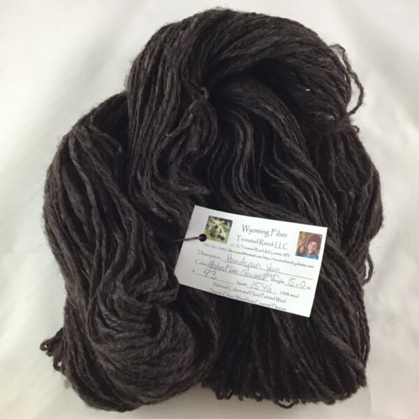 Shop Wyoming Tronstad Ranch Handspun Natural Dark Chocolate Brown 5.0oz