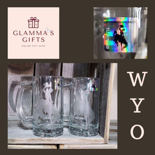 Shop Wyoming Steamboat Etched Beer Mug – 26.5 oz