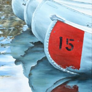 "Shop Wyoming ""Canoes"" Oil Painting"