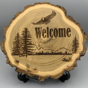 Shop Wyoming Laser Engraved Elm Wood Log