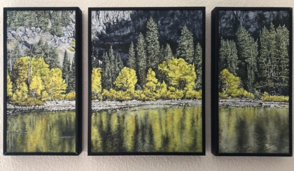 """Shop Wyoming """"Indian Summer Triptych"""" Oil Painting"""