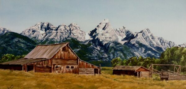 """Shop Wyoming """"Lost in Time"""" Oil Painting"""