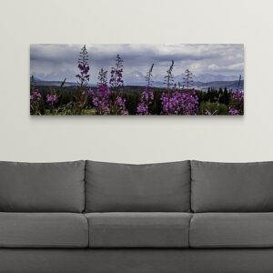 Shop Wyoming Large 20 x 60 Wildflower Tetons Canvas