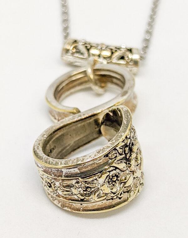 silverware infinity necklace jubilee