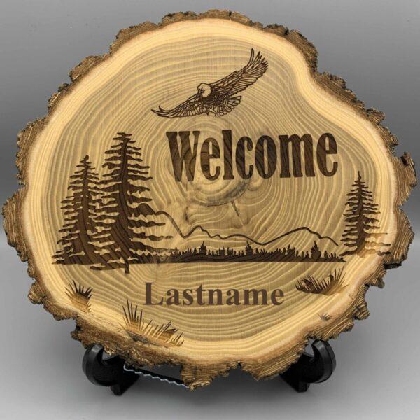 Shop Wyoming Laser Engraved Elm Wood Log