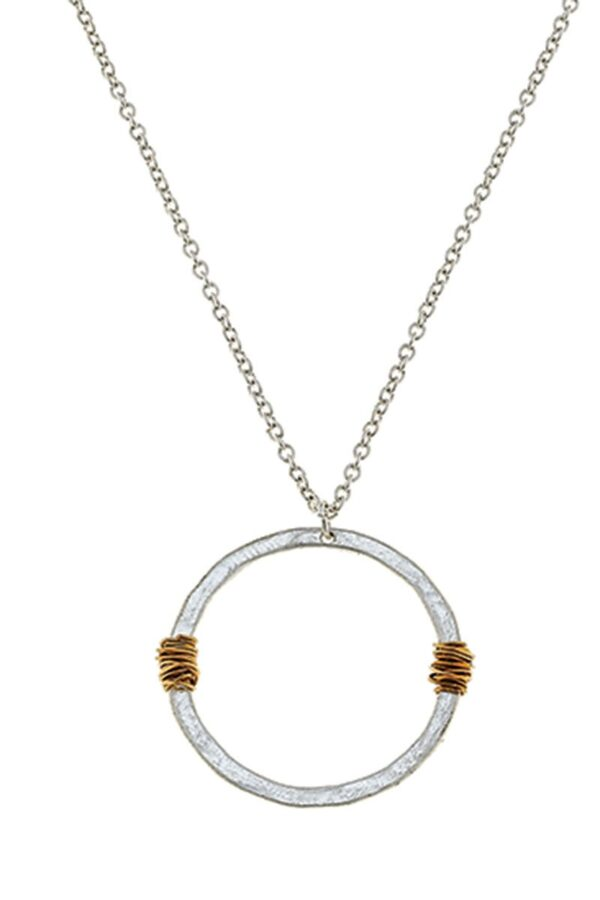 Shop Wyoming Wire-Wrapped Circle Pendant Necklace