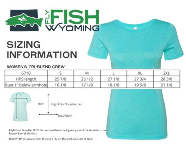 Shop Wyoming Women's Fish Wild Wyoming Tee