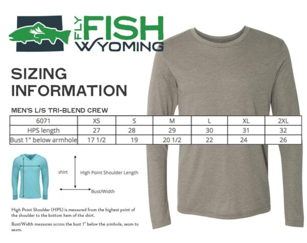 Shop Wyoming Fly Fish Wyoming® Spine Design Long Sleeve – Blue