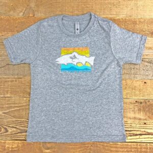 Shop Wyoming Kids Wyoming Sunset Logo Tee – Heather Grey