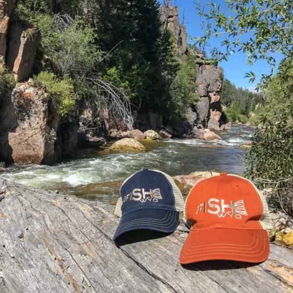 Shop Wyoming Fishtail Baseball Trucker Hat – Navy