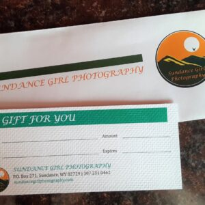 Shop Wyoming Sundance Girl Photography Gift Certificate