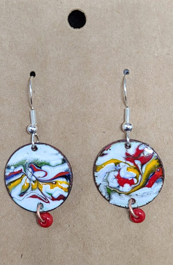 Shop Wyoming Multi-Colored String Glass Enameled Earrings
