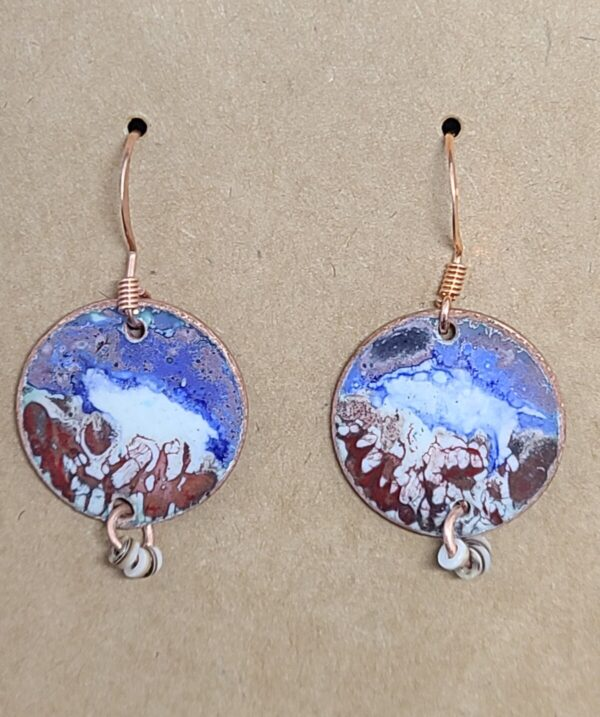 Shop Wyoming Funky Red, White and Blue Earrings