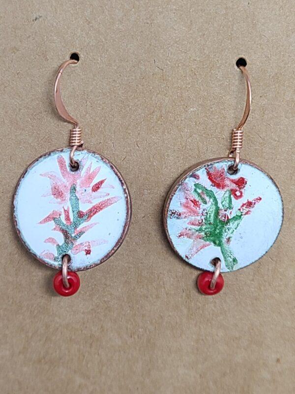 Shop Wyoming Hand Painted Indian Paintbrush Earrings