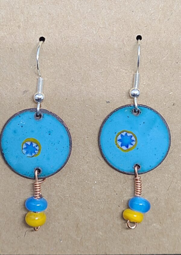 Shop Wyoming Blue Sun on Turquoise Earrings