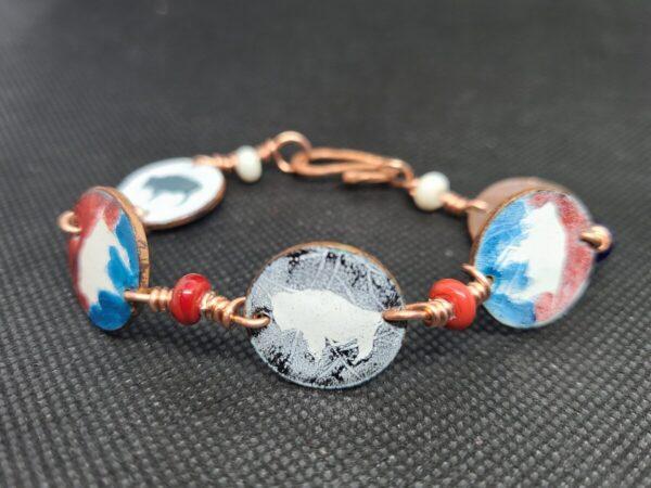 Shop Wyoming Bison Multi-Colored Bracelet