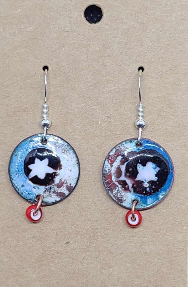 Shop Wyoming White Stars on Red, White and Blue earrings