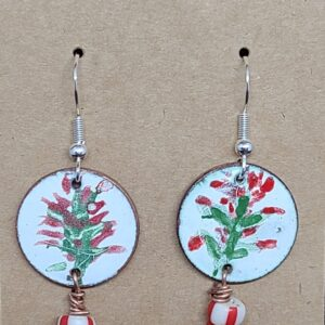 Shop Wyoming Hand painted Indian Paintbrush Enameled Earrings