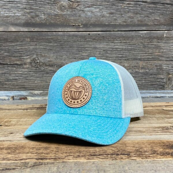 Shop Wyoming Reel Patch Trucker Hat 2.0 – Teal Heather