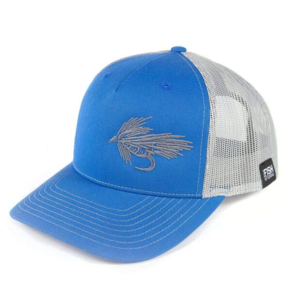 Shop Wyoming Streamer Trucker – Blue/Gray – So Fly Series 1