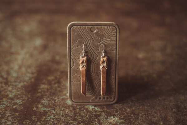 Shop Wyoming Braided Leather Earrings