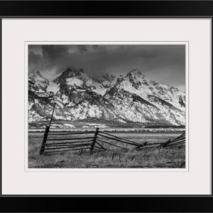 Shop Wyoming Framed 11×14 Black and White Fence Photo