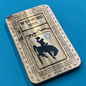 Shop Wyoming Beetle Kill Pine 3 track Wyoming Cribbage Board