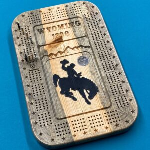 Shop Wyoming Beetle Kill Pine 4 track Wyoming Cribbage Board
