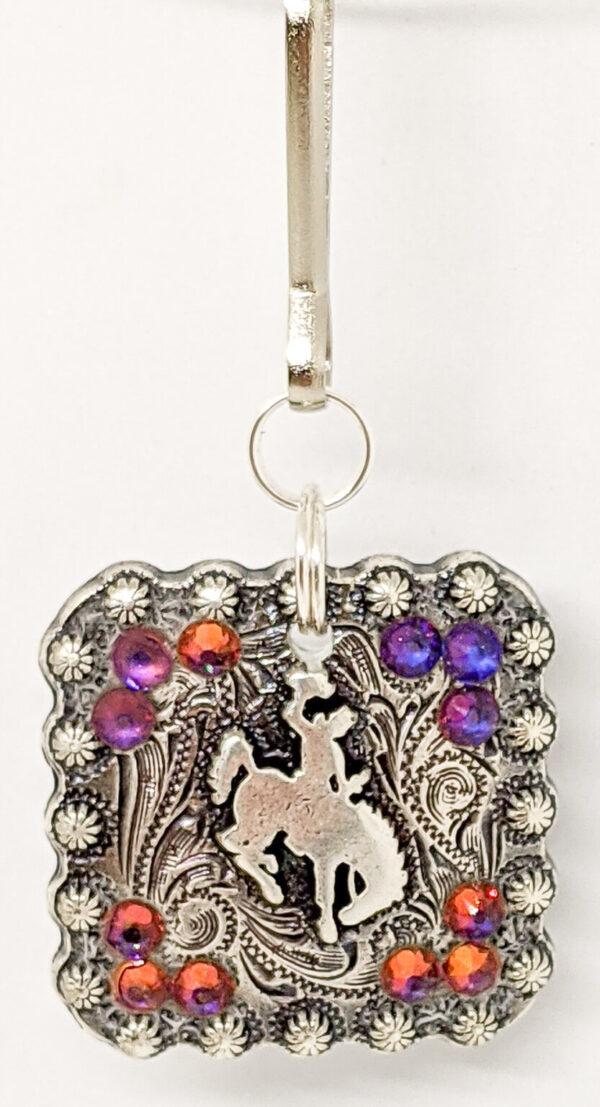 Shop Wyoming Wyoming Bucking Horse Silver Zipper Pull