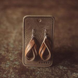 Shop Wyoming Double Hoop Leather Earrings
