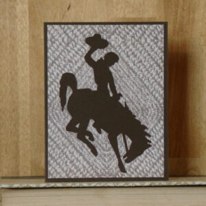 Shop Wyoming Wyoming Licensed Bucking Horse Greeting Card