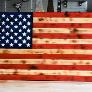 Shop Wyoming Rustic Wooden American Flag