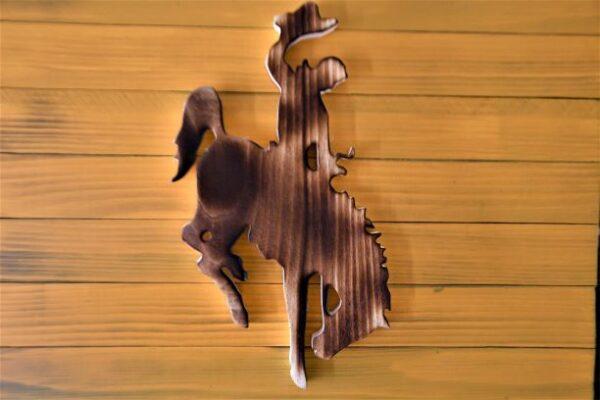 Shop Wyoming Wyoming Bucking Horse Wooden Flag