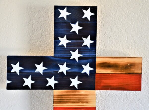 Shop Wyoming American Flag Wooden Cross