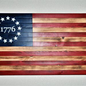 Shop Wyoming 1776 Rustic American Wooden Flag