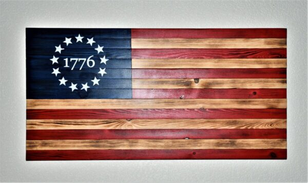 Shop Wyoming 1776 Rustic American Wooden Flag