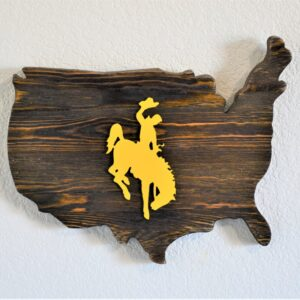 Shop Wyoming Wyoming Bucking Horse on USA Wood Plaque