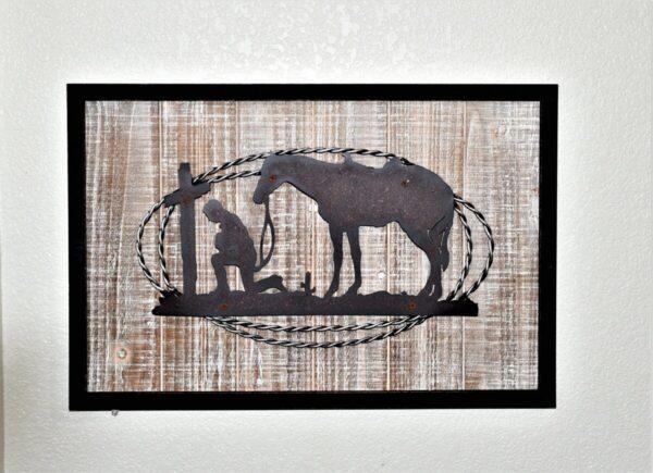 Shop Wyoming Kneeling Cowboy and Horse at Cross