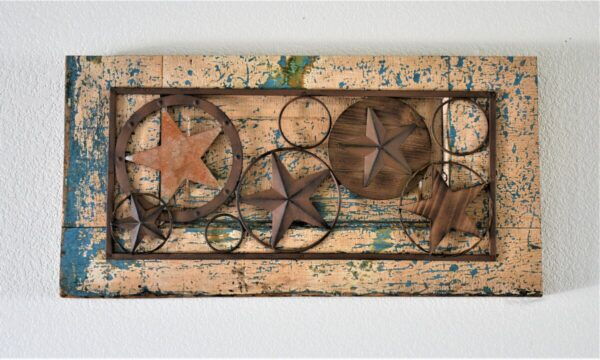 Shop Wyoming Rustic Metal and Wood Stars Mounted on 1940's Antique Door