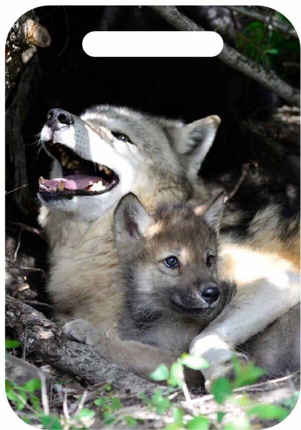 Shop Wyoming Wolf & Fox Luggage ID Tags