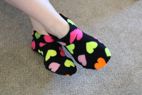 Shop Wyoming Neon Hearts Slipper Socks/House Shoes
