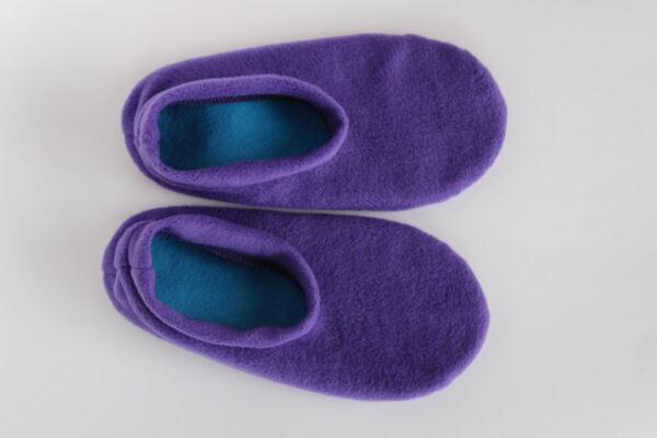 Shop Wyoming Dark Purple Slippers/ Non Slip Slipper Socks